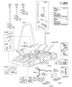 Thule 928/929 EuroClassic Towbar Mounted Cycle Carrier Spare Parts Multi-Listing