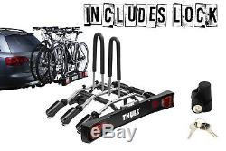 Thule 9503 Bike Cycle Carrier Tow Bar Mounted with 957 Lock Holds 3 Bikes
