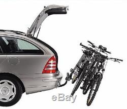 Thule 9708 Cycle Carrier Towbar Mounted Tilts Holds 4 Bikes Inc Trailer Board