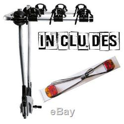 Thule 972 Cycle Carrier Towbar Mounted Holds 3 Bikes with Trailer Board