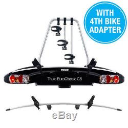 Thule EuroClassic G6 929 4 /Four Bike Cycle Carrier+ 9281 Extra Bike Adapter-NEW