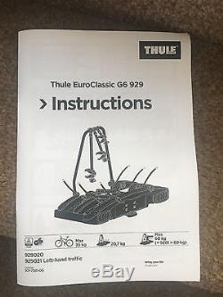 Thule-EuroClassic-G6-929-Cycle-Carrier-WITH-4TH-BIKE-ADAPTER-9281 Thul