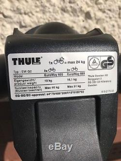 Thule EuroWay G2 920 2 Bike Towbar Mounted Carrier MINT CONDITION