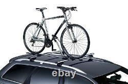 Thule FreeRide 532 Twin Pack Roof Mount Cycle Carrier Bike Rack, T-Track + Locks