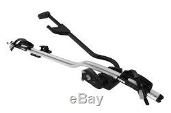 Thule ProRide 598 Silver Roof Mount Cycle Carrier Bike Rack with T-Track & Locks