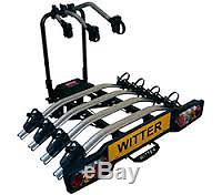 Tilting 4 bike four cycle carrier Witter ZX404 Flange Towbar Mounted Rack