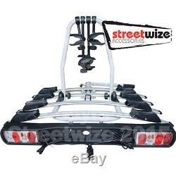 Titan 4 Bike Cycle Carrier Tow Ball Mounted Bicycles Part Streetwize Sta0701