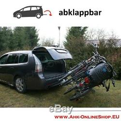 Towbar Mounted 3 Bike Rack Cycle Carrier Tilting Theft Protection 7 pin plug