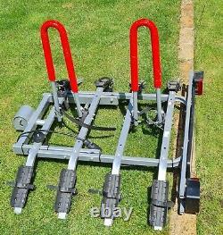 Towbar Mounted 4 Bike Rack / Cycle Carrier 7 pin