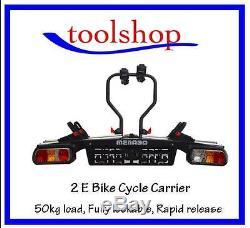 Towbar Towball mounted bike carrier e bike 2 bike cycle lockable