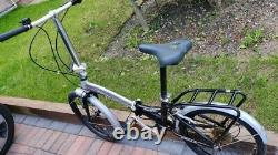 Unisex adult 20 folding bicycle bike lightweight aluminium with carrier clean