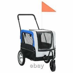 VIDA Large Pet Trailer & Stroller 2 in 1 Folding Bike Dog trailer carrier