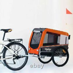 Veelar Large Pet Trailer & Stroller 2 in 1 Folding Bike Dog trailer carrier