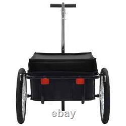 VidaXL Bike Cargo Trailer/Hand Wagon Steel Black Bicycle Luggage Tool Carrier