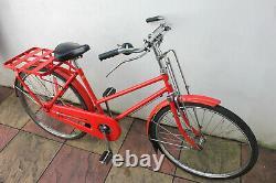 Vintage Red Miyata Japanese Post Bicycle Dutch Town Bike Cargo Carrier size S