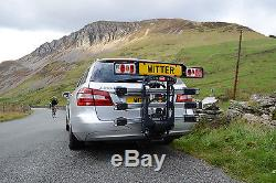 WITTER 3 Bike PREMIUM Towbar mounted Cycle carrier- BIKE TILT & FOLD UP Features