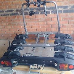 WITTER 4 Bike Towbar mounted Cycle carrier- Including Mounting Plate