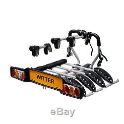 WITTER ZX408 4 (four) CYCLE CARRIER BIKE RACK TOWBALL MOUNT