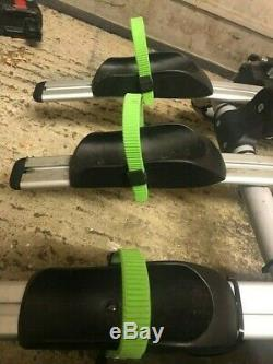 WORHAN 3 Bike Cycle Carrier Rack Towbar Tow Ball Mounted LED Lights