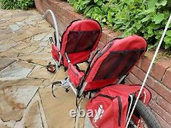 Weehoo igo 2 child bike trailer tagalong double bicycle carrier