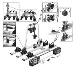Winter SALE! GIRO 3 Bike Rack, Cycle Carrier 3 bikes Towbar Mounted with Tilt