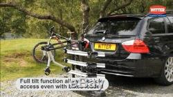 Witter Rear Tow Bar Mounted Tilting 4 Bike Cycle Carrier