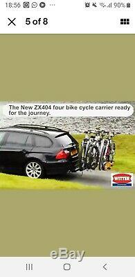 Witter Rear Towball Mounted Tilting 4 Bike Cycle Carrier