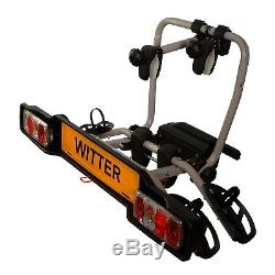 Witter ZX203 Cycle Carrier ZX203 Bolt-On Towball Mounted 3 Bike Cycle Carrier