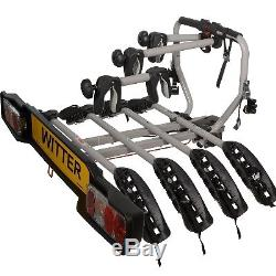 Witter ZX204 Bolt On Towball Towbar Mounted 4 Bike Cycle Carrier