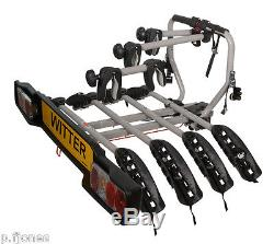 Witter ZX204 Tow Bar Mounted 4 / Four Bike Cycle Carrier