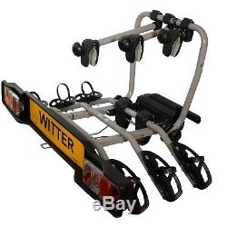 Witter ZX303 Cycle Carrier Clamp-On Towball Mounted 3 Bike Cycle Carrier