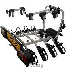 Witter ZX304 Cycle Carrier Clamp-On Towball Mounted 4 Bike Cycle Carrier
