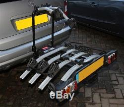 Witter ZX404 Flange Towbar Mounted Tilting 4 Bike Cycle Carrier