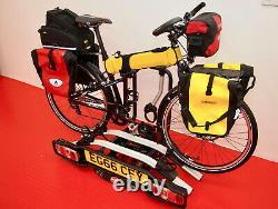 Witter ZX502 Tow Bar 2 Bike Cycle Folding Tilting Rack Carrier beats Thule