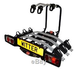 Witter ZX503 Towball Mounted Tilting 3 Bike Platform Style Cycle Carrier