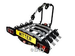 Witter ZX504 Towball Mounted Tilting 4 Bike Platform Style Cycle Carrier