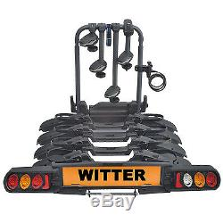 Witter ZX704 Tow Bar Mounted 4 / Four Bike Cycle Carrier Pure Instinct