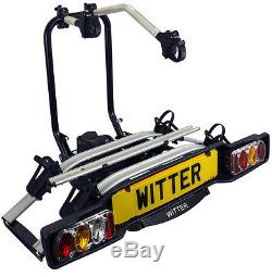 Witter ZXE502 New 2017 Tow Bar Mounted Electric 2 / Two Bike Cycle Carrier