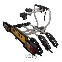 ZX203 Bolt-on Towball Mounted 3 Bike Cycle Carrier